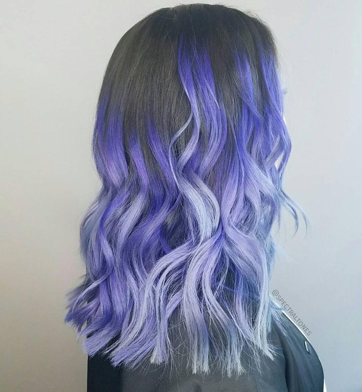 Blue Violet Color Melt by Julie Mueller - Hairstylist. Love the style too! #hoto...