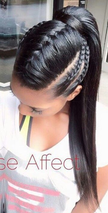 Braided ponytail hairstyle @the_rose_affect