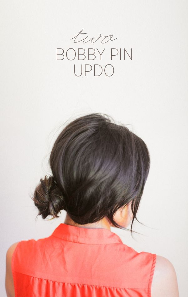 Can you do this 'do with only two pins? Apparently so. Check it out....