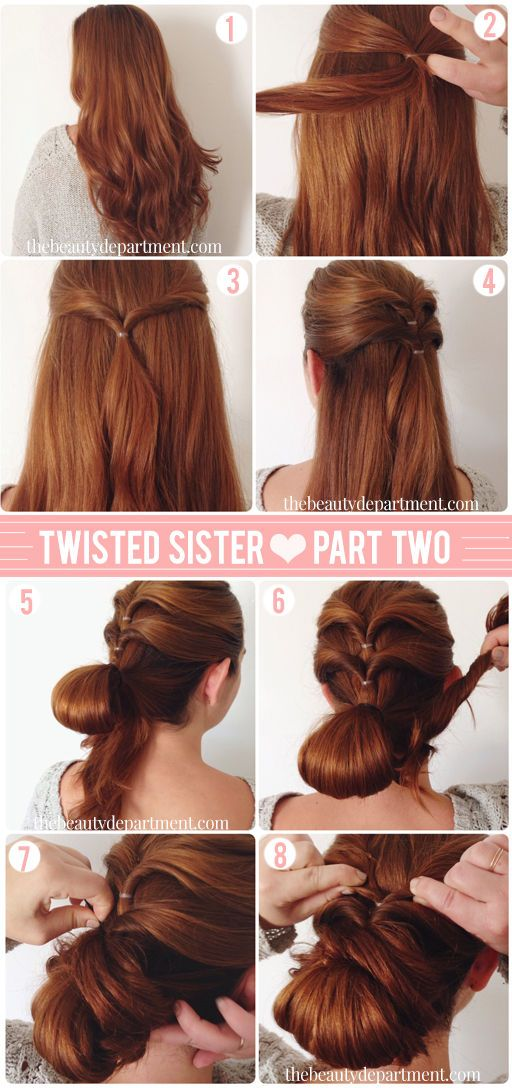 Chignon with an extra twist....