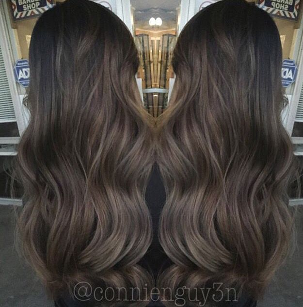 Chocolate Ash Balayage #hair #balayage...