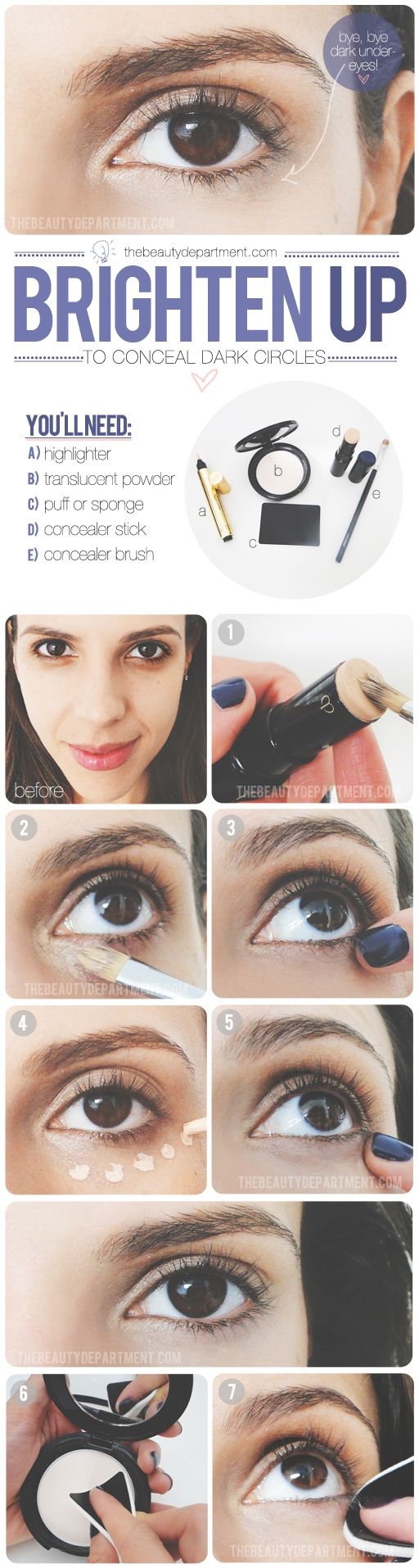 Cover up dark circles, courtesy of thebeautydepartme....
