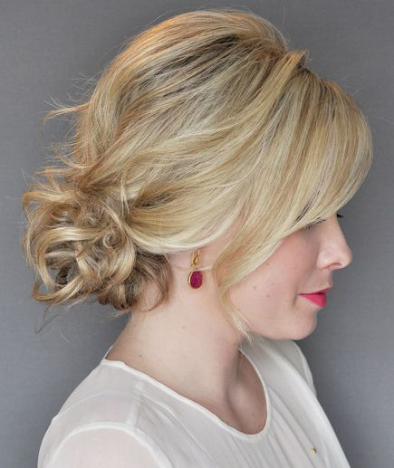 Easy messy updo created for Real Simple by Kate Bryan of The Small Things blog. ...