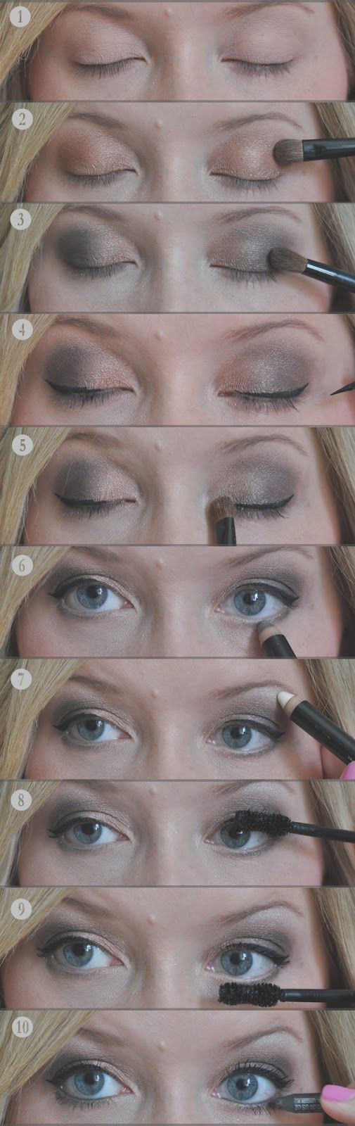 Easy smoky eye, courtesy of our friend Kate Bryan at The Small Things Blog.