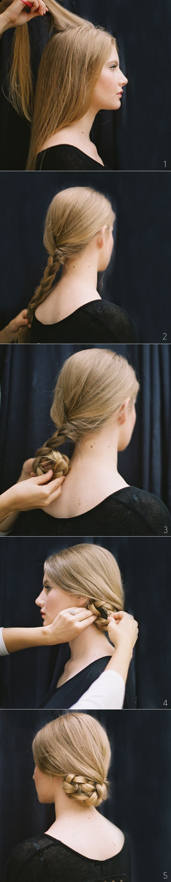 Elegant: the tucked braided bun....