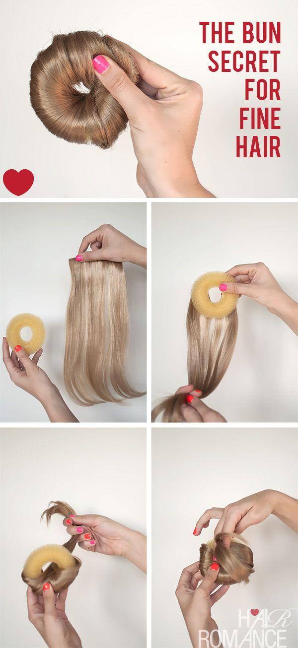 Fine hair? Here's how to cheat a bun....