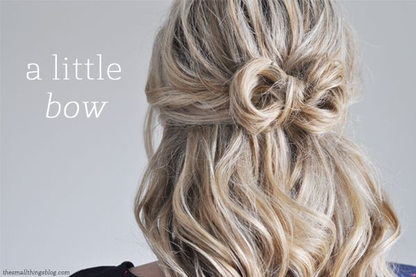 Finish your hair with a bow. Watch the video to see how.
