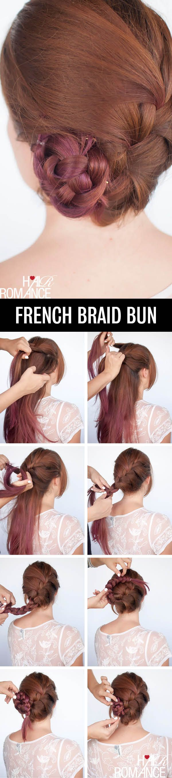 French-braid bun....