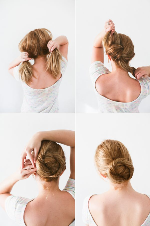 From the how-tos, this twisted bun style seems incredibly simple....