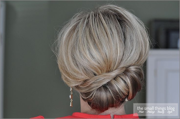 From the Small Things Blog: a sideways take on the French Twist. Click through f...