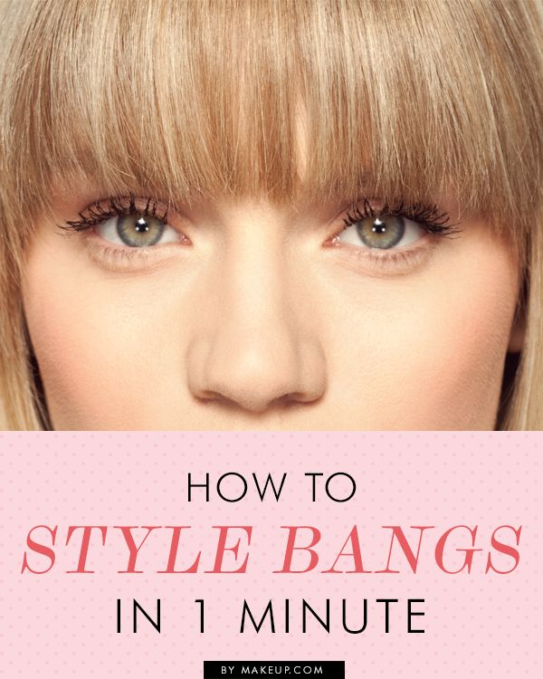 Good to know: a quick way to style your bangs....