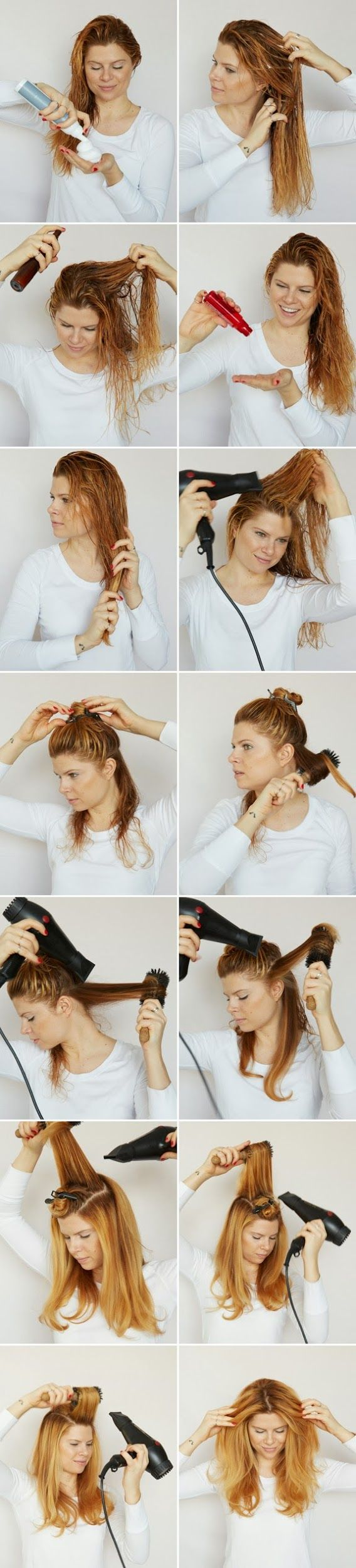 Good to know: How to blow dry your hair like a hair stylist, from A CUP OF JO....