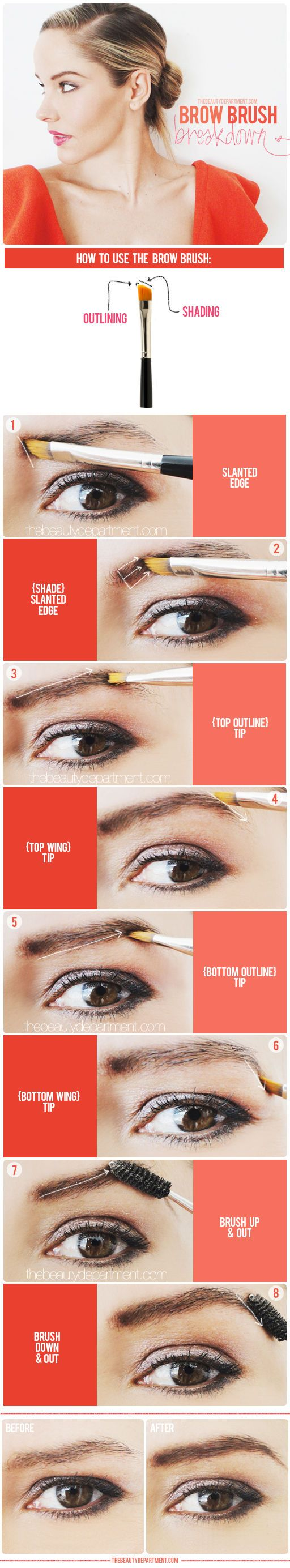Good to know: how to use a brow brush....