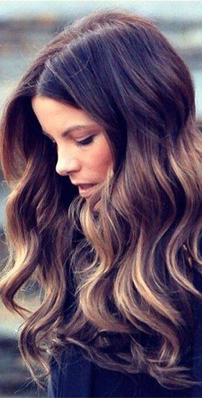 Gorgeous brunette hair.
