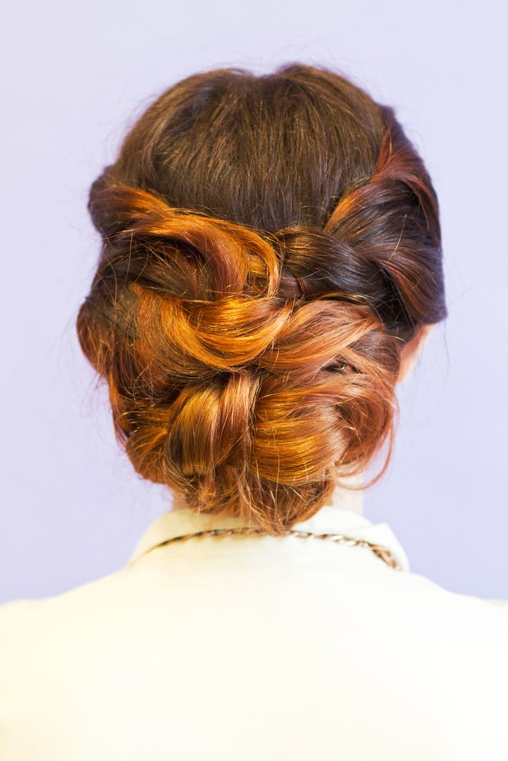Guess how much braiding goes into this style? Zero! This 'do is all about ...