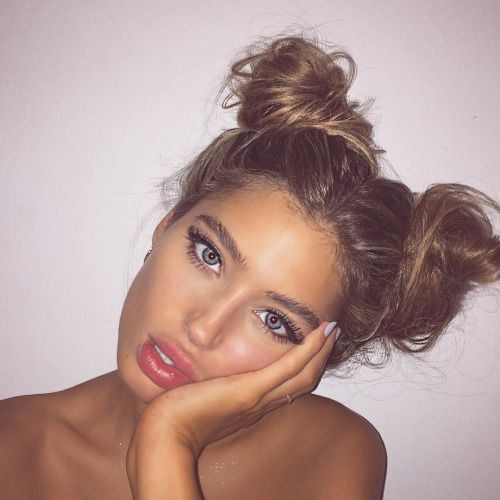 Hairstyle with two buns