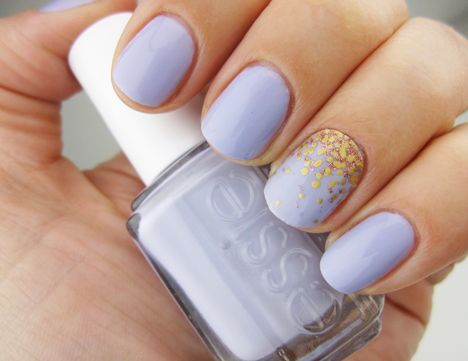 Happy spring! (That's Essie Lilacism with an overlay of L'Oreal Colour Riche...