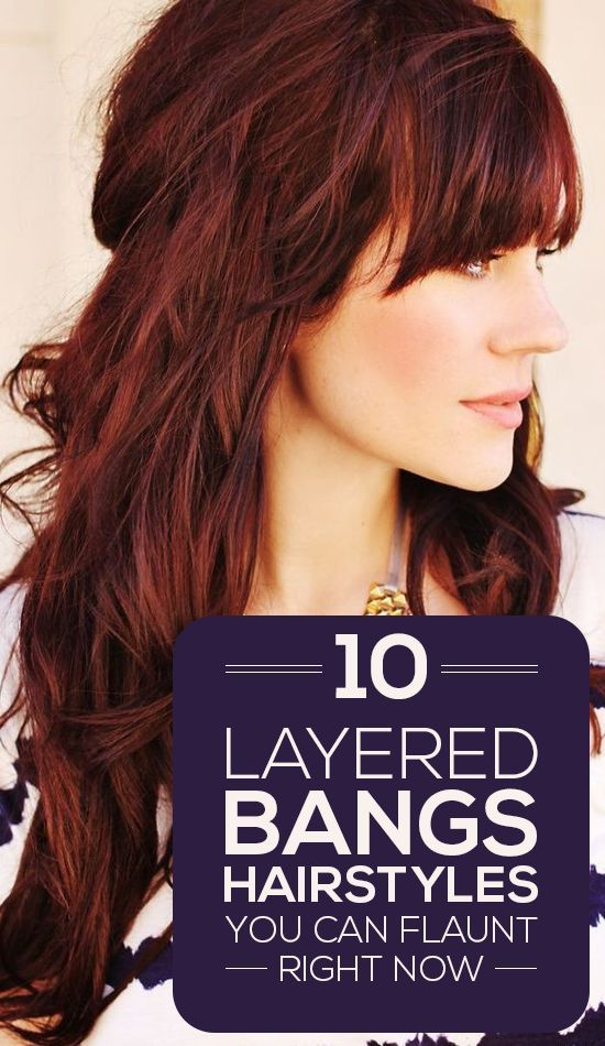 Here are 10 layered bangs hairstyles that will lend you the oomph factor that yo...