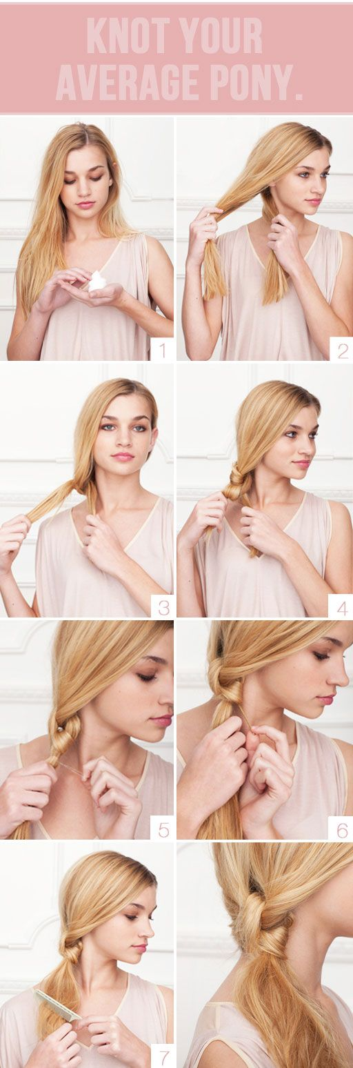 Here's the one time you would actually want a knot in your hair. Cute, easy st...