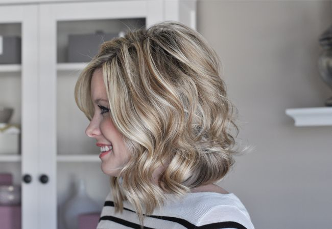 How to create soft waves in shorter hair. Click on the photo for the tutorial....