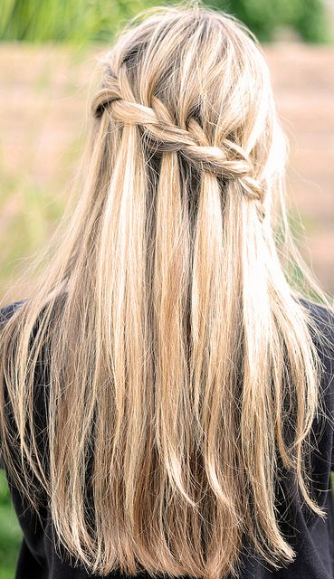 How to: do a waterfall braid. Click through for the video.