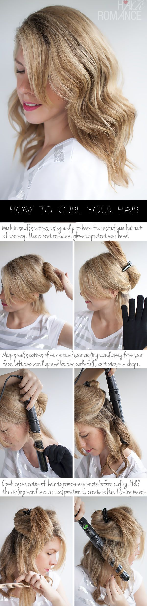 How to give straight hair soft waves....