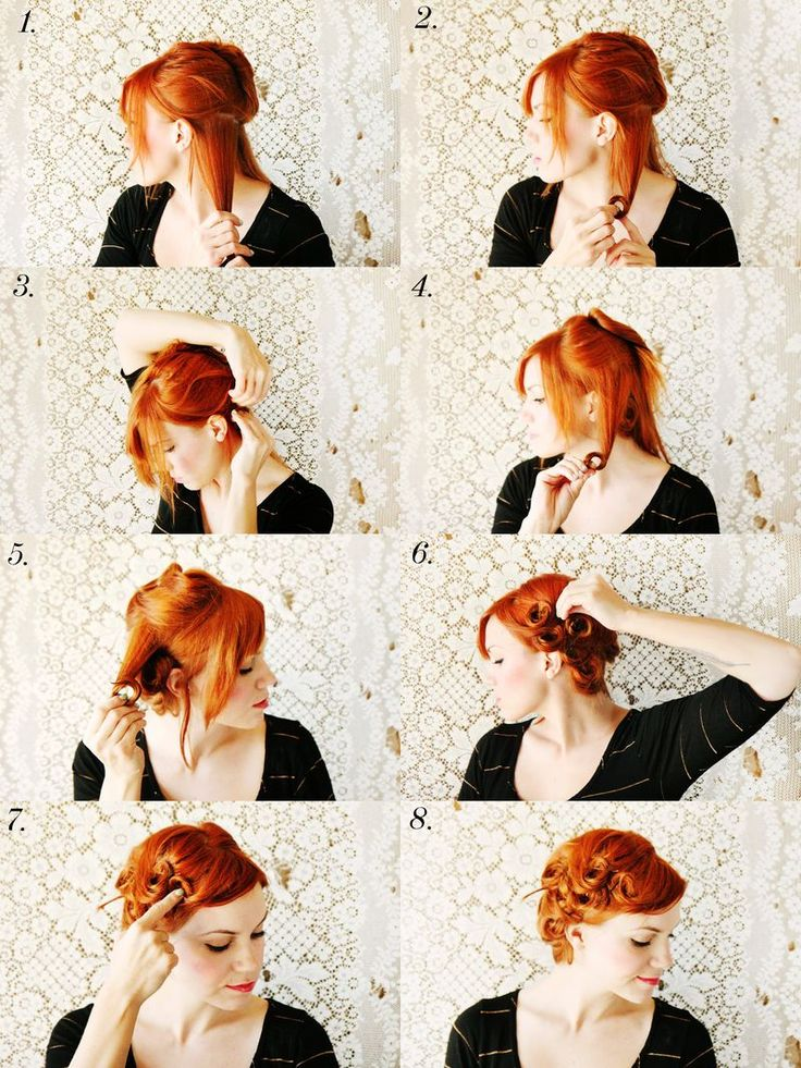 How to style pin curls....