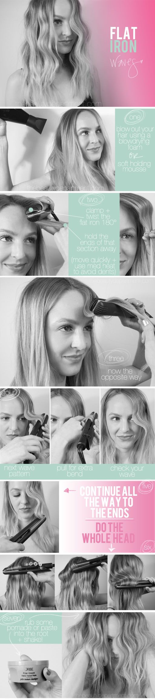 How to use your flat iron to create waves.
