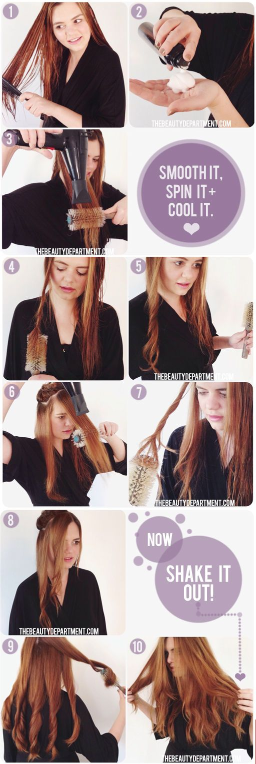 How to wave your hair without a curling iron....