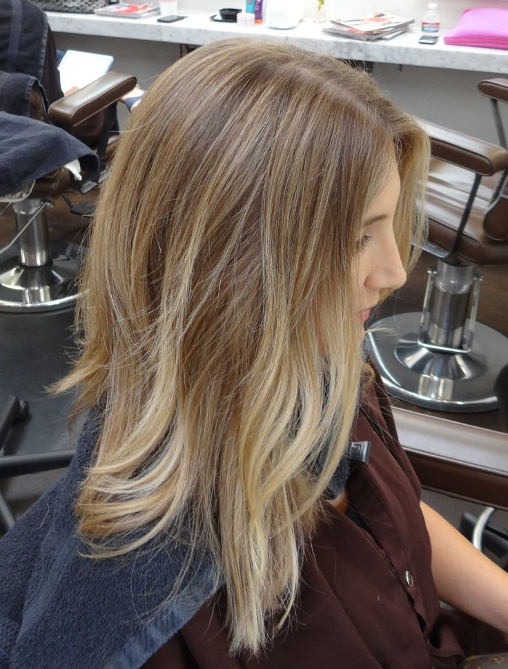 light brown with soft blonde...looks natural & similar to what I have been going...