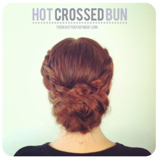 Love this braid/bun combo. Click through for the how-tos.