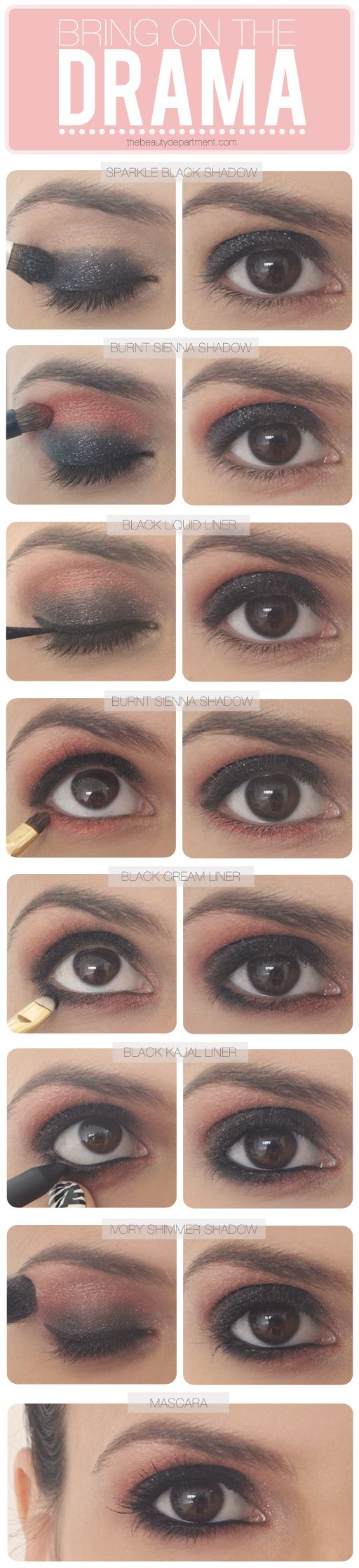 Love this for serious nighttime drama (of the makeup kind!). Click on the photo ...