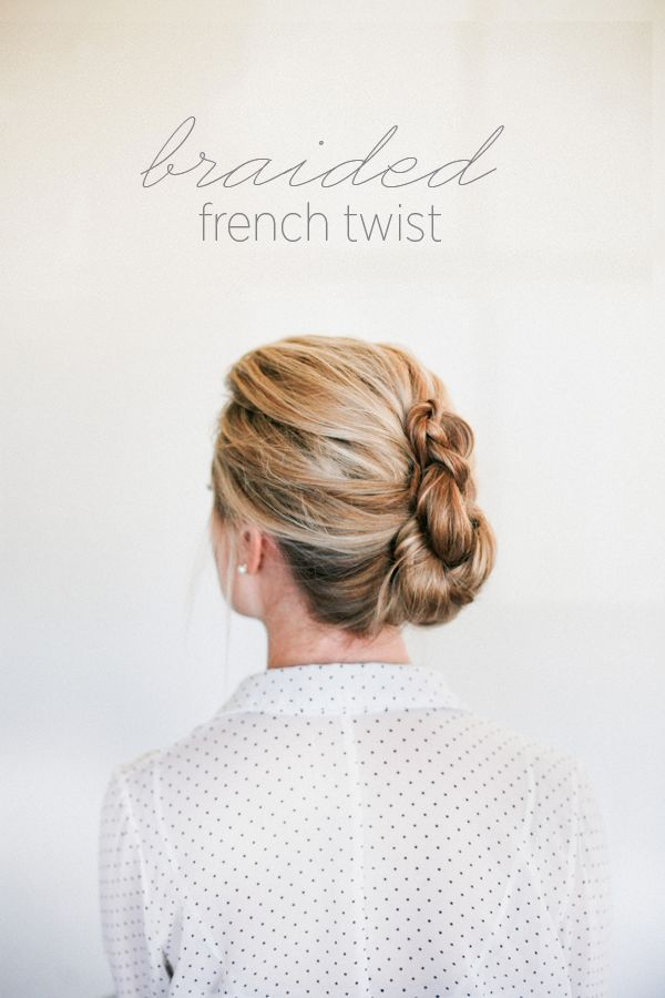 Lovely variation on the French Twist. Click on the photo for the how-tos.