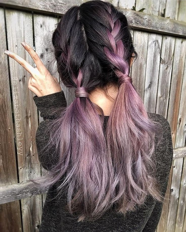 Metallic mauve hair color by Jessica Syburg Cute country girl braids by @elizabe...