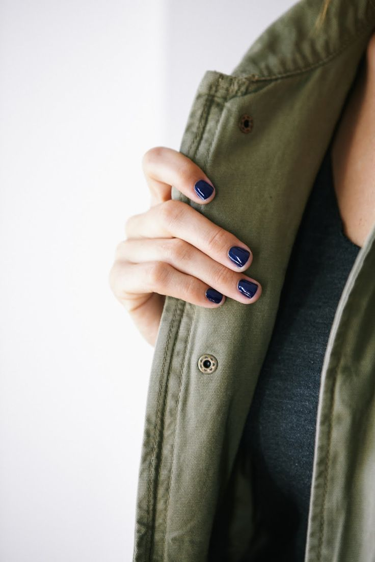 Navy nail polish is hot right now. Would you wear it? (A few to try: Essie Midni...