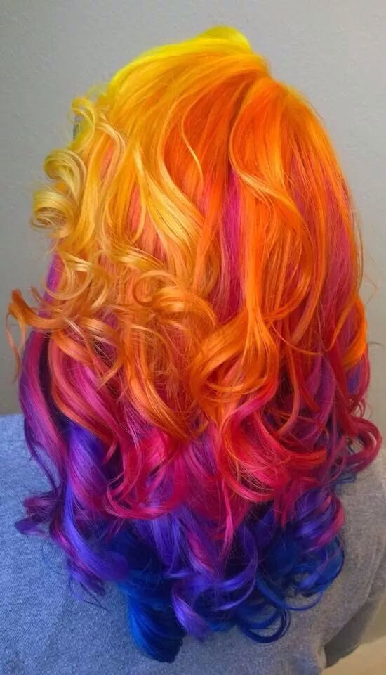 Nighttime sunset hair!...