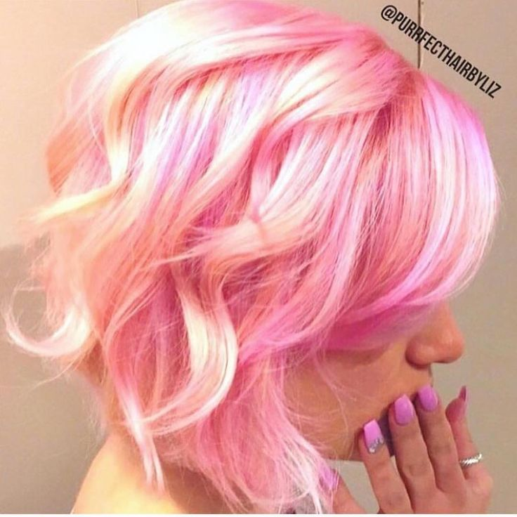 Pink and Blonde Candy Confection  by @purrrfect_hair Fascinating painting techn...