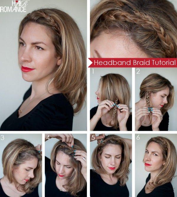 Plait your hair to create a headband....