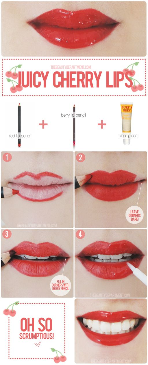 Red lips remastered! Bring your lips to life with added dimensions and a glossy ...