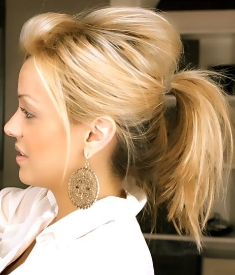 Six Messy Cute Ponytails for Short Hair - The Mini Ponytails | Headquarters for ...