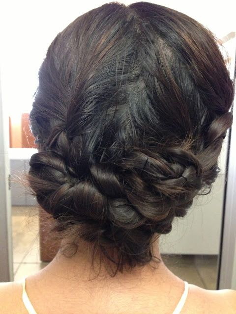 So cute: braided updo. Click on the photo for the how-tos.