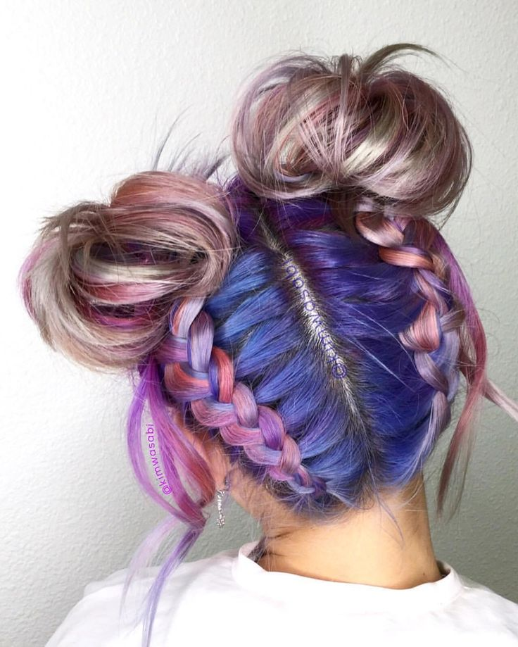Spacebuns and Braids by @kimwasabi. Are you following Kim's page? This chick kn...