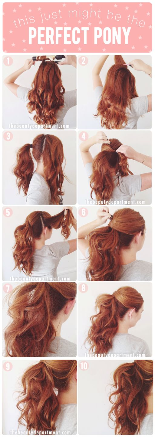 Step-by-step tutorial on the ponytail. The perfect ponytail actually. #hair #hai...