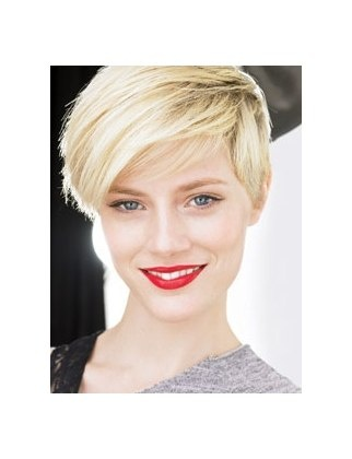 Striking pixie cut.