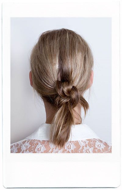 The double knot; click on the photo for the tutorial.
