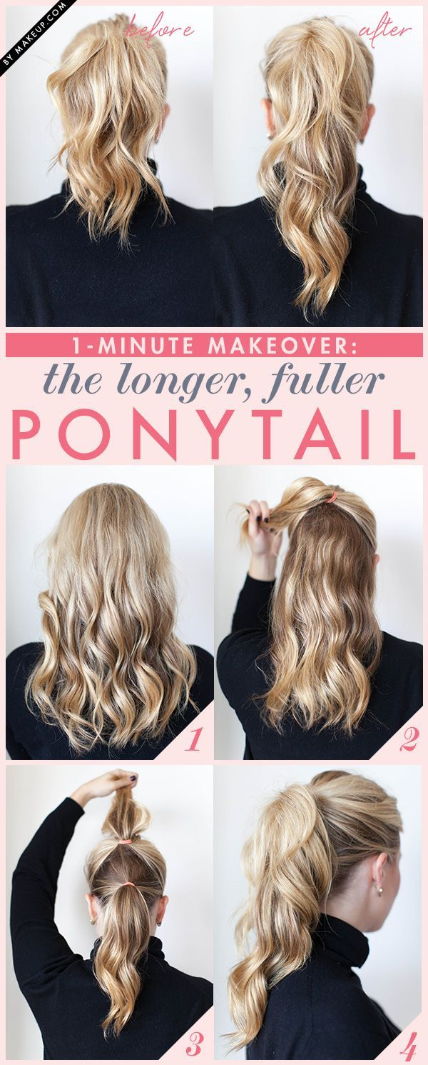 the trick to making your ponytail longer and thicker (I will probably just end u...