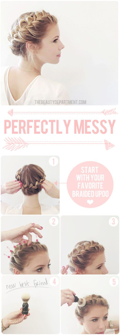 The trick to perfectly messy braids.