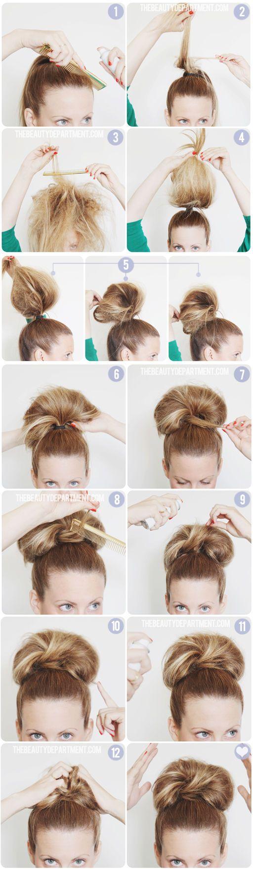 Transform a workaday big bun into a party look.