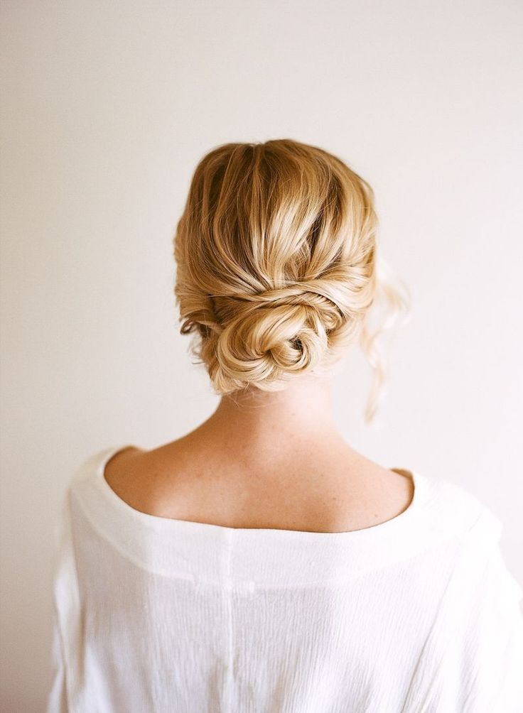 Twisted, pinned: soft updo....