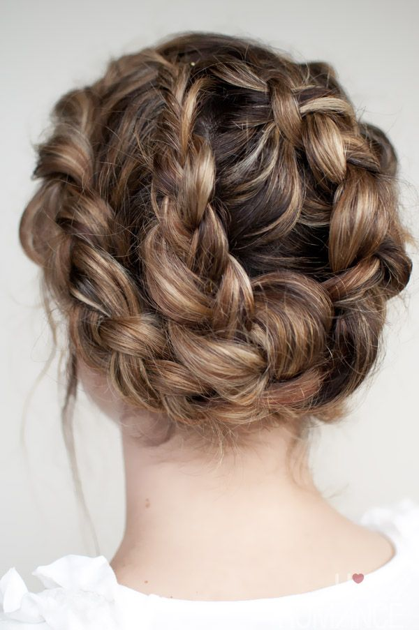 Two reverse braids combine in one striking hairstyle. Click through for all the ...